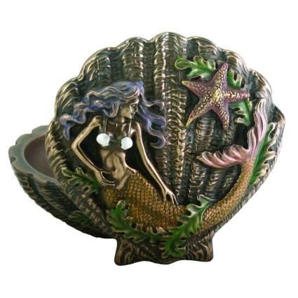 Bronze color seashell jewelry box