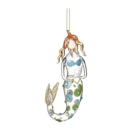 Glass mermaid ornament