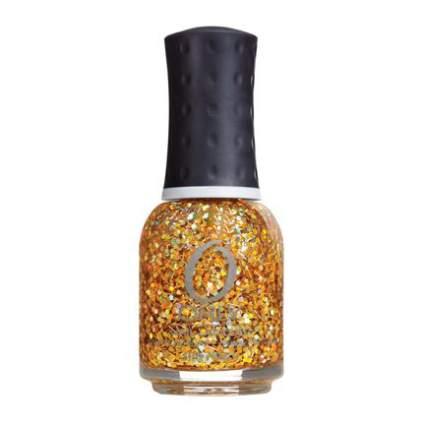 Gold bar glitter nail polish