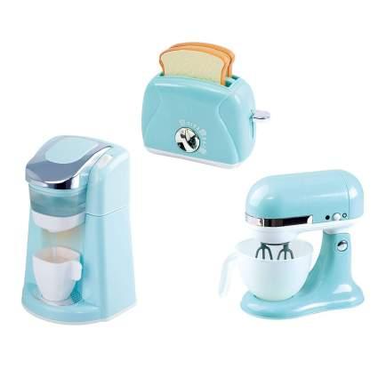 Light blue kid's kitchen appliances