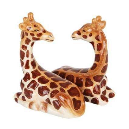 Two giraffe figurines
