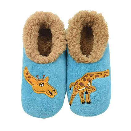a blue slippers