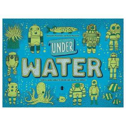 Green and blue Under Water book
