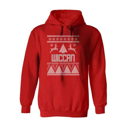 Red wiccan sweater