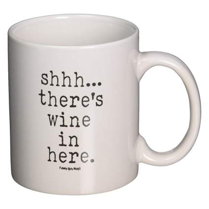 Funny wine coffee cup