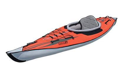 orange and gray hybrid kayak