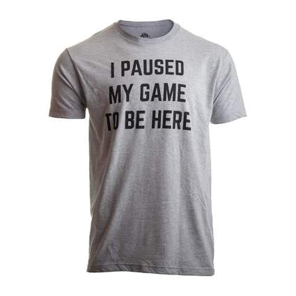 Grey gaming tee shirt