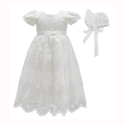 baby girls christening dress