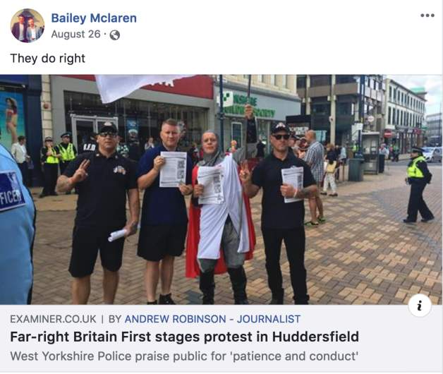 bailey mclaren facebook britain first