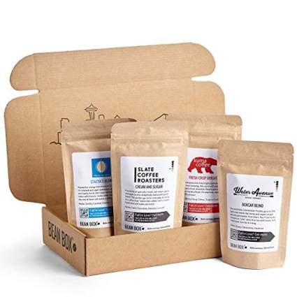 Bean Box Artisan Coffee Sampler Box