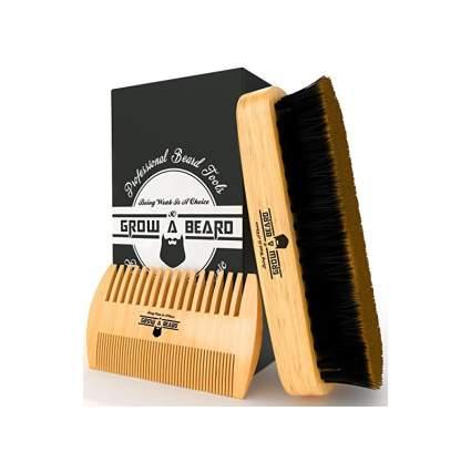 beard brush grow a beard