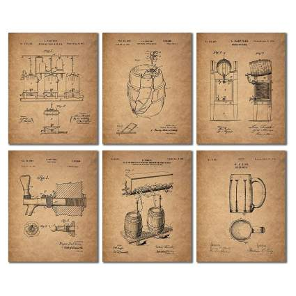 Beer Patent Wall Art Prints