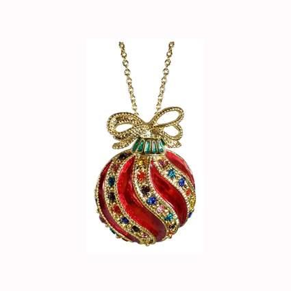 Fancy Christmas ornament necklace