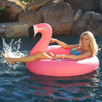 big flamingo float