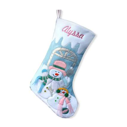 blue velvet customizable chistmas stocking