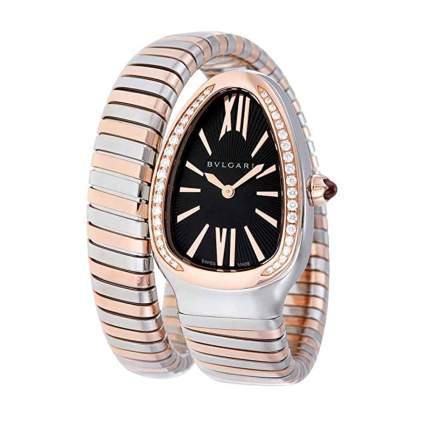 bulgari rose gold and diamond women's watch