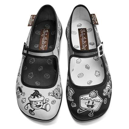 cartoon chocolate treat mary jane shoes