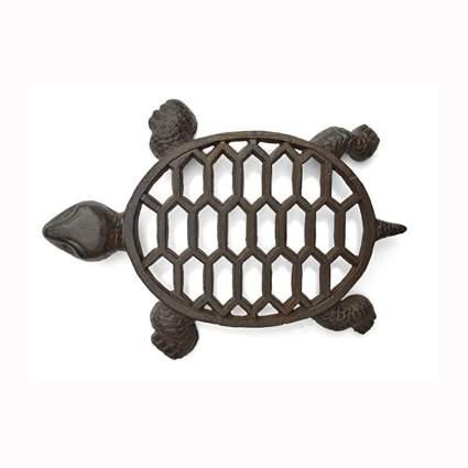 cast iron turtle trivet