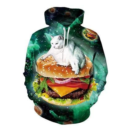cat burger hoodie