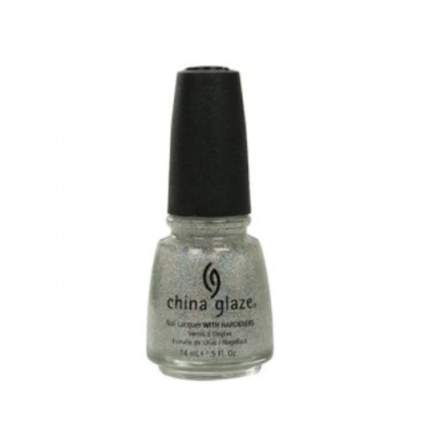 China Glaze nail polish bottle with silver glitter