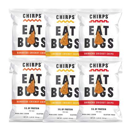 Bags of chips made from crickets