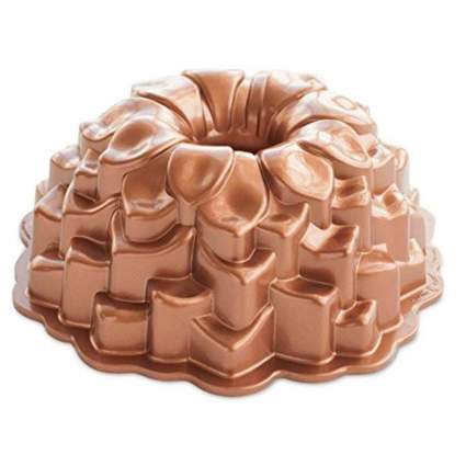 copper flower petal bundt pan