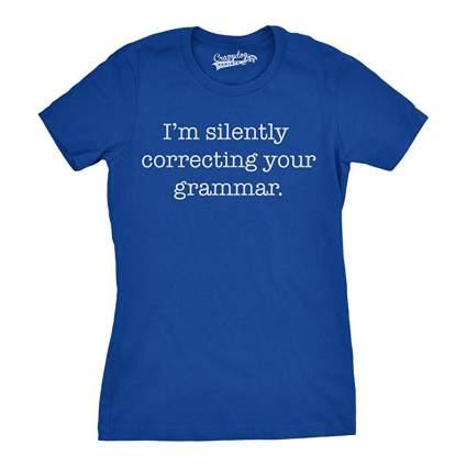 Blue grammar funny tshirt