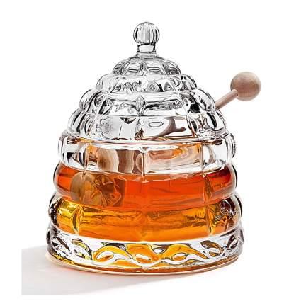 crystal beehive honey jar