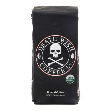 Black bag of coffee
