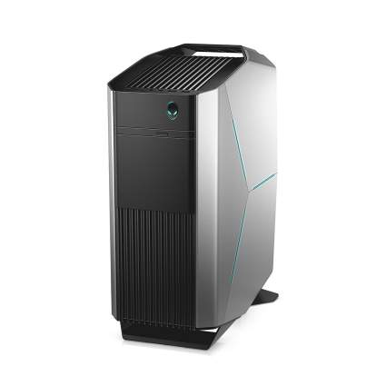 Black and silver gaming computer tower