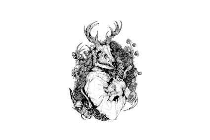 Pagan stag god design