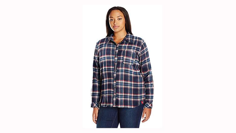 plus size plaid flannel shirt
