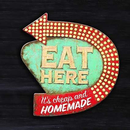 retro eat here sign