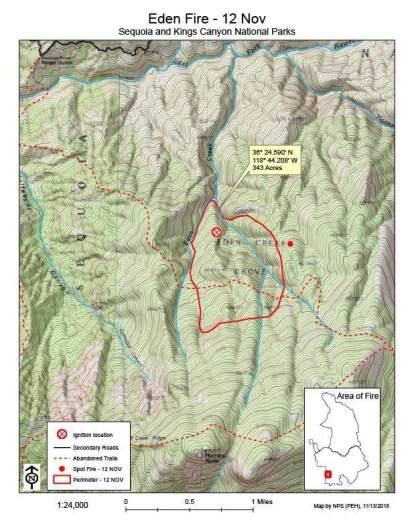 Eden Fire Map