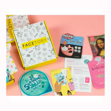 sheet mask monthly gift box