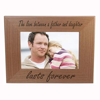 father daughter wood picture frame