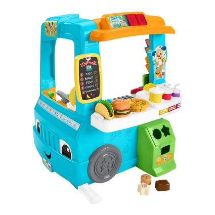 Blue Fisher-Price food truck