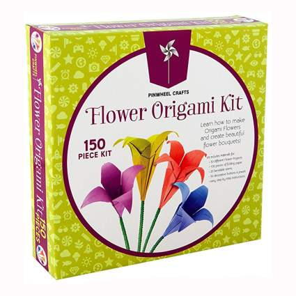 origami flower making kit