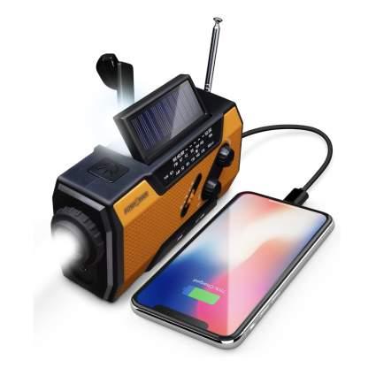 fospower hand crank radio