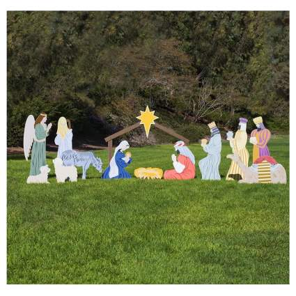 full color life size nativity
