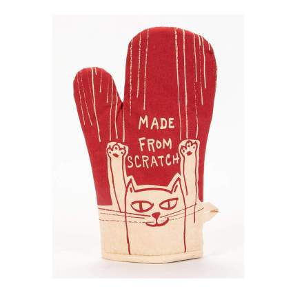 made from scratch funny oven mitt
