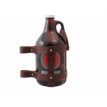Fyxation Leather Bicycle Growler Carrier