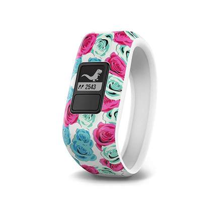 Pink flower fitness tracker