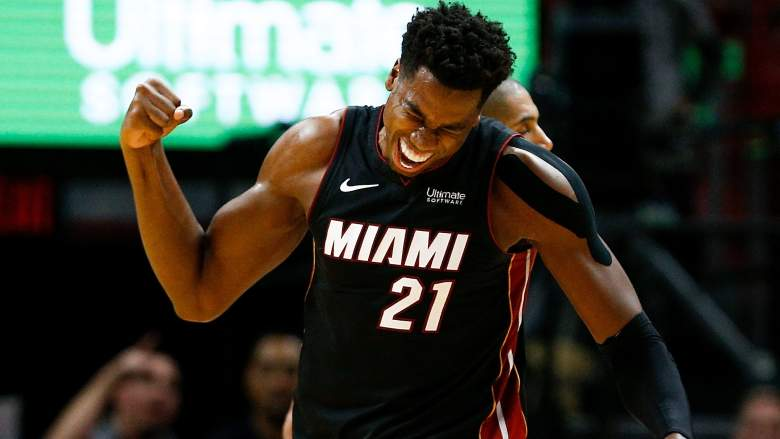 Hassan Whiteside– Charlotte Hornets vs Miami Heat (Oct. 20, 2018)