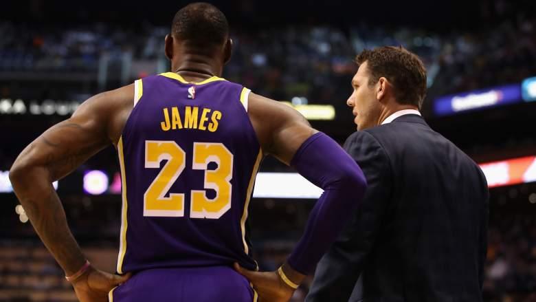 Lebron James & Luke Walton– Los Angeles Lakers vs Phoenix Suns (Oct. 24, 2018) Magic Johnson denies lebron ignoring Luke Walton