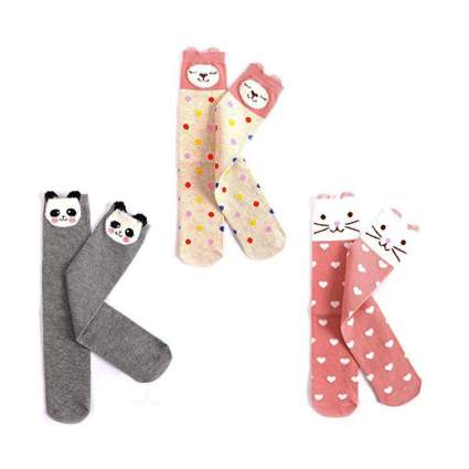 Girls Cute Cotton Knee High Stockings