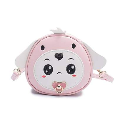 pink mini puppy purse