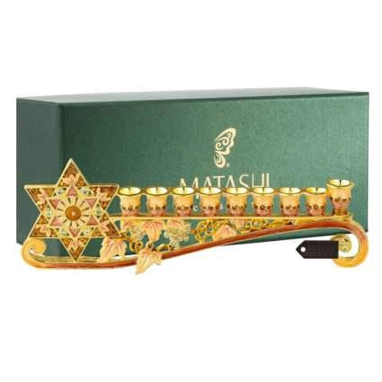 gold embellished gift menorah