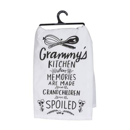funny grandma dish towel