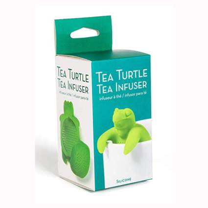 green silicone turtle tea infuser